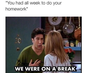 school, funny, and homework image