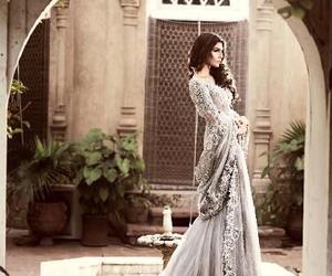 dress, beautiful, and bride image