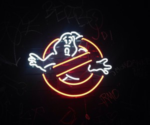 Ghostbusters and neon image