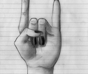 draw, hand, and rock image
