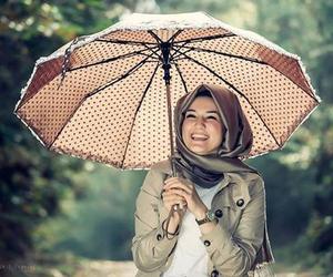 hijab and umbrella image