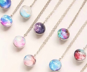 necklace, galaxy, and accessories image