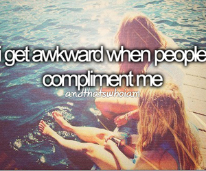 awkward, compliment, and text image