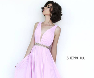 evening gown, light pink, and draped image