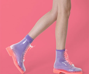 boots, pastel, and pink image