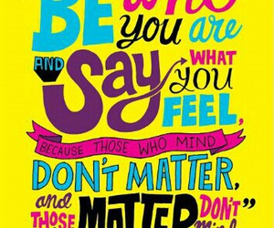 be yourself, Dr. Seuss, and quote image