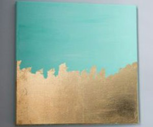 mint green canvas and light blue canvas image