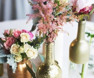 flowers and glitter image