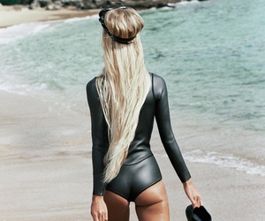 blonde, beach, and summer image