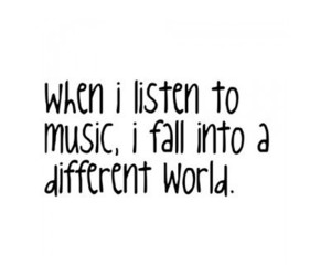 music, fall, and listen image