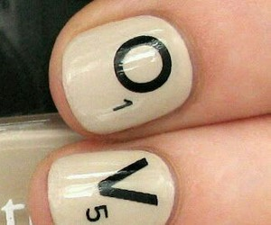 nail art, scrabble, and tiles image