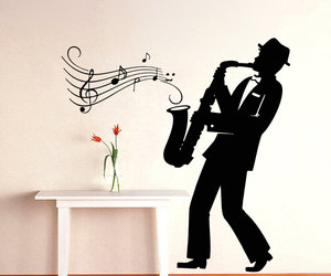 music, home decor, and murals image