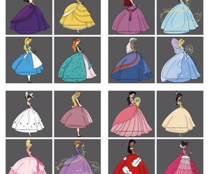 disney, princess, and dress image