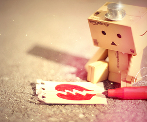 heart, sad, and box image