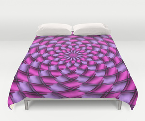 bedding, pattern, and pink image