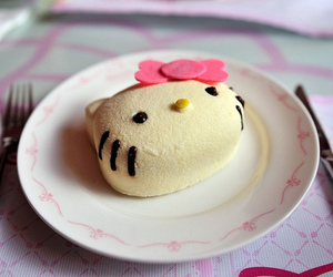 hello kitty, cute, and food image