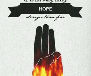 the hunger games, hope, and hunger games image
