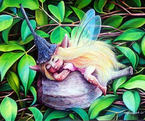 art, drawing, and fairy image