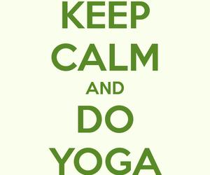 keep calm and yoga image