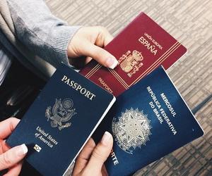 passport, travel, and grunge image