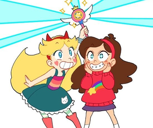 gravity falls, mabel pines, and star butterfly image