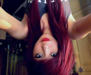 red hair, girl, and hair image
