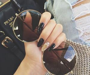 nails, fashion, and sunglasses image
