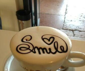 smile, coffee, and drink image