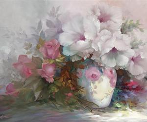 Fleurs, romantic, and flowers image