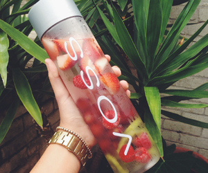 fruit, strawberry, and voss image