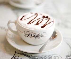 cappuccino, drink, and sweet image