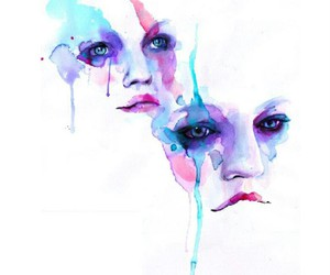 art, watercolor, and eyes image