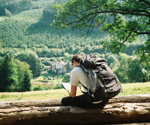 boy, nature, and travel image