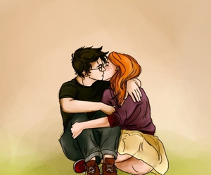 book, ginny weasley, and harry potter image