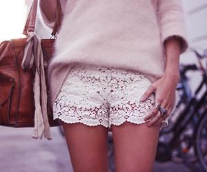 fashion, shorts, and lace image