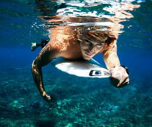 surf, boy, and surfing image