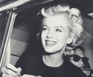 Marilyn Monroe, black and white, and smile image
