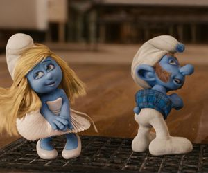 blue, funny, and smurfs image