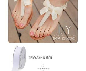 diy, bow, and sandals image