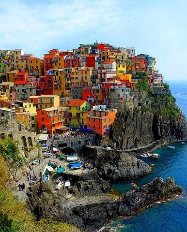 italy, house, and sea image