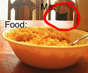 black, cereal, and hungry image