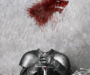 game of thrones, stark, and north image