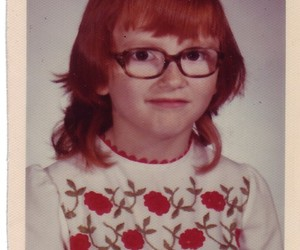 1970's, red head, and bangs image
