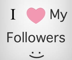 followers, love, and heart image