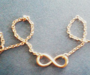 gold, infinito, and infinity image