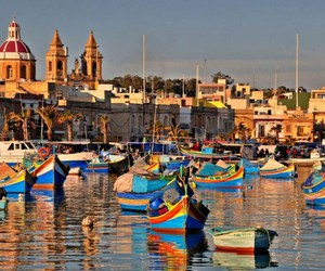 malta, travel, and marsaxlokk image