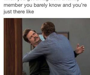 funny, hug, and family image