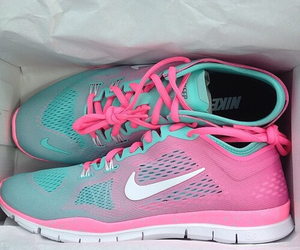 nike, ombre, and shoes image