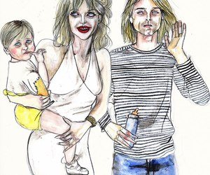 Courtney Love, family, and art image