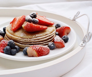 girl, pancakes, and pretty image